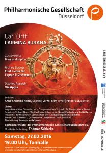 Carmina Burana Flyer